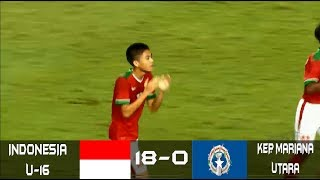 Video Indonesia u-16 vs Kepulauan Mariana (18-0) | FUll Highlights all goals - AFC U-16 download MP3, 3GP, MP4, WEBM, AVI, FLV April 2018