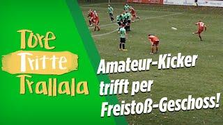 Amateur-Kicker trifft per Freistoß-Geschoss! | Tore, Tritte, Trallala