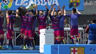 FC Barcelona vs granada cf LIGA BBVA FINAL FIFA 16 gameplay