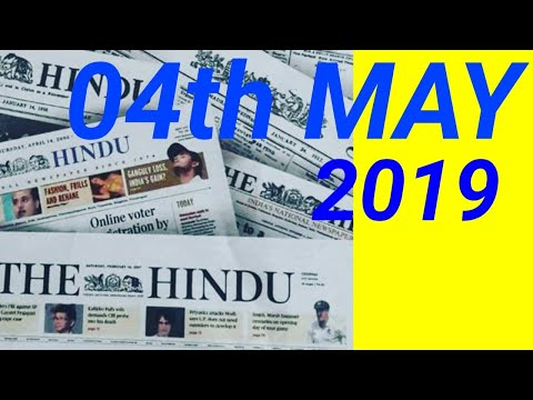 The Hindu Newspaper 04th May 2019