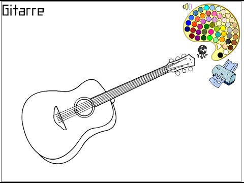 guitar coloring pages for kids guitar coloring pages - Guitar Coloring Pages