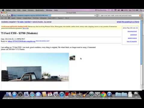 Craigslist Modesto California   Local Used Cars And Trucks For Sale By Owner