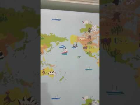 Детская карта мира. Обои для стен