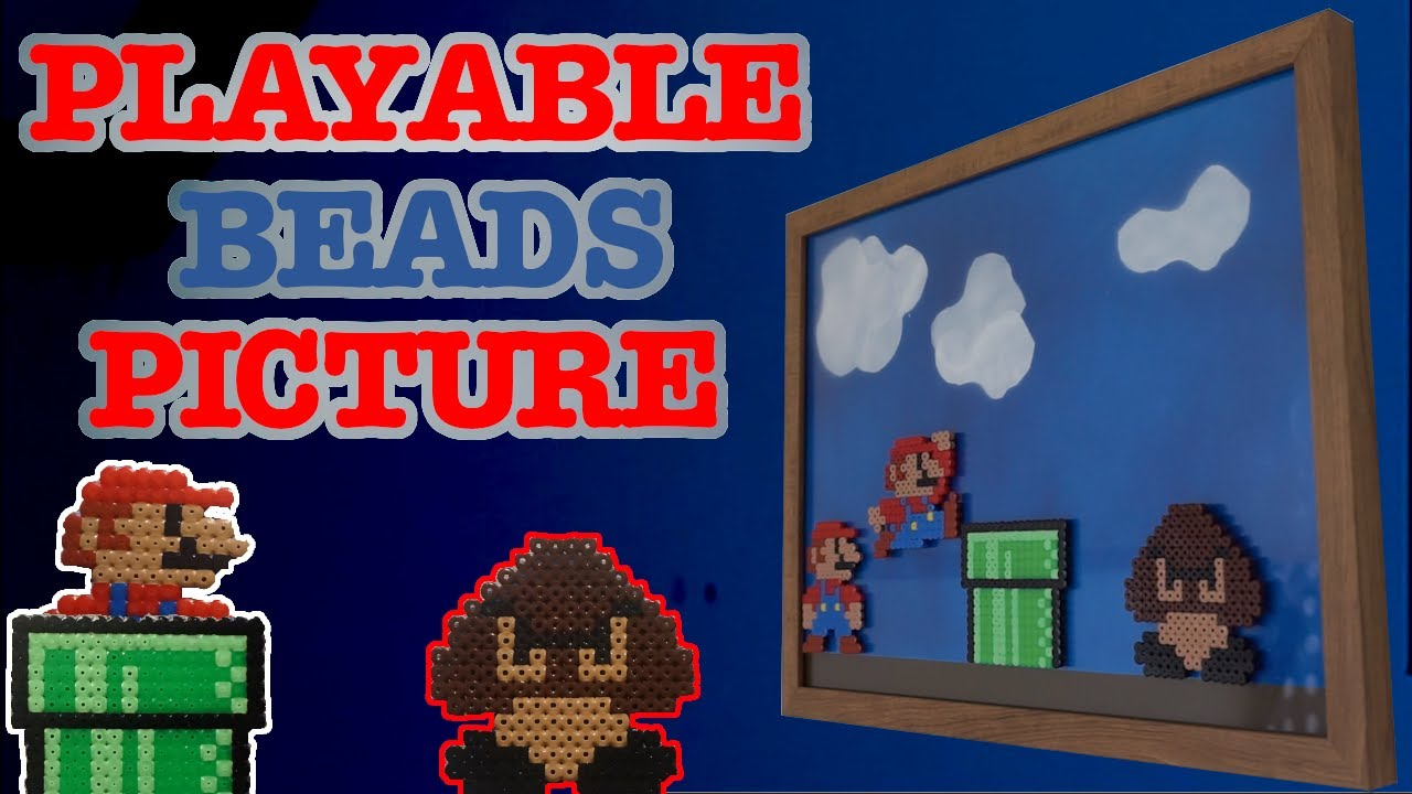 Perler Beads Picture! Interactive Mario Playable Bead Frame
