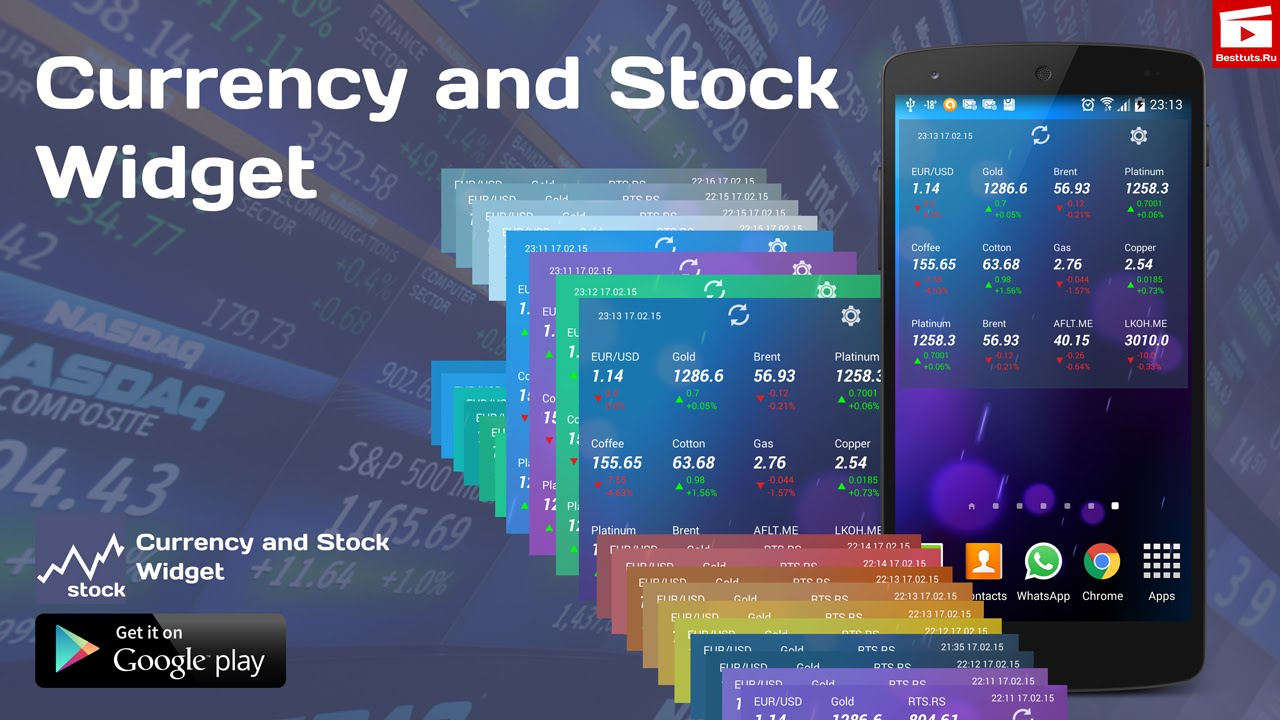 Currency and Stock Widget for Android