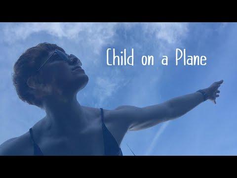 Child on a Plane
