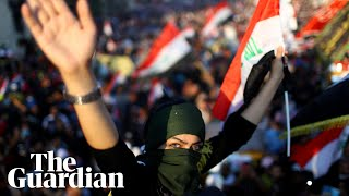 Anti-government demonstrations in Iraq swell as protesters defy teargas