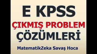 LİSE ÖNLİSANS  KPSS Çıkmış PROBLEMLER Çözümleri