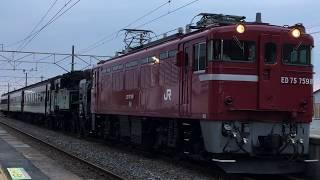 【JR+真岡鐵道】C11 325+旧客3B『SL只見線新緑号返却配給』矢吹発車