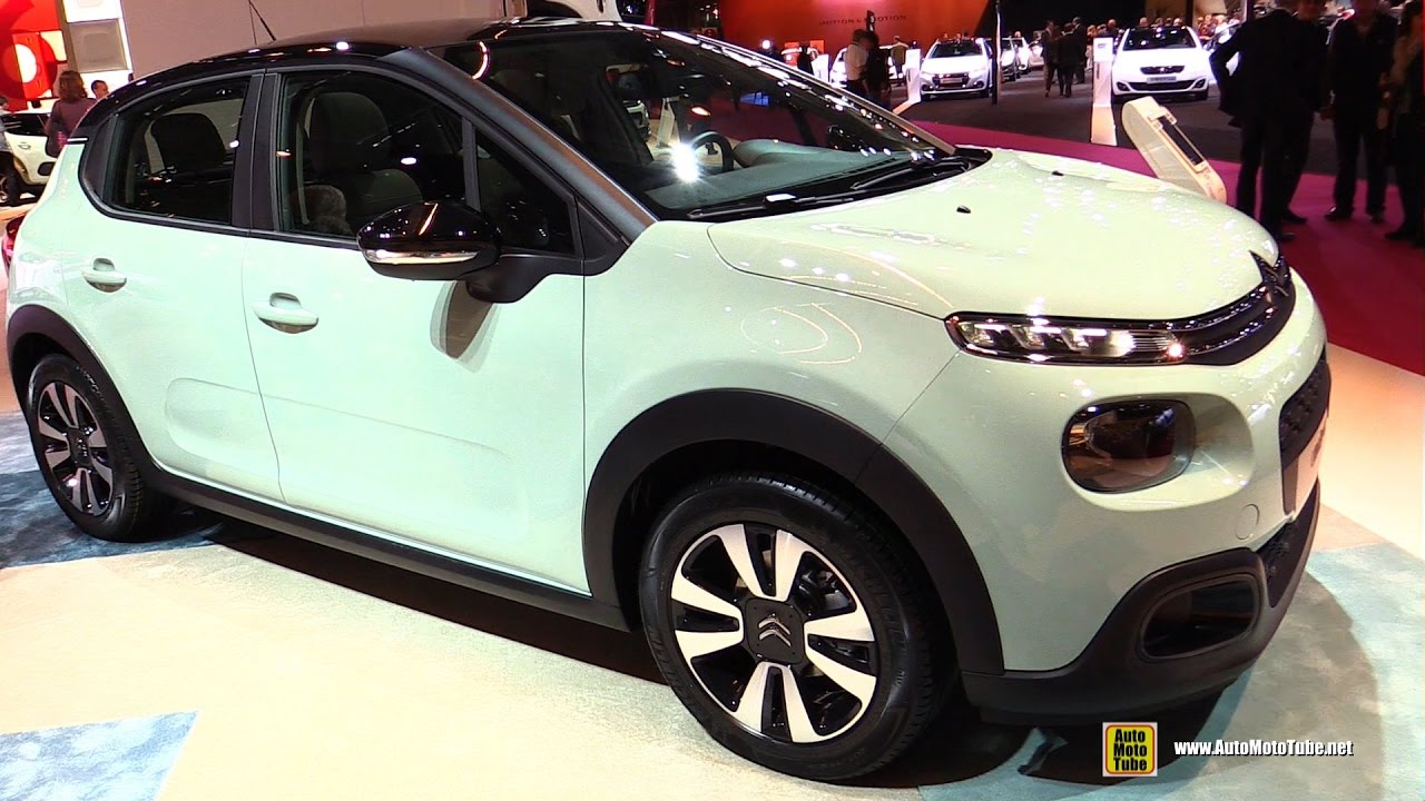 2017 citroen c3 puretech 82 exterior and interior walkaround debut at 2016 paris motor show. Black Bedroom Furniture Sets. Home Design Ideas