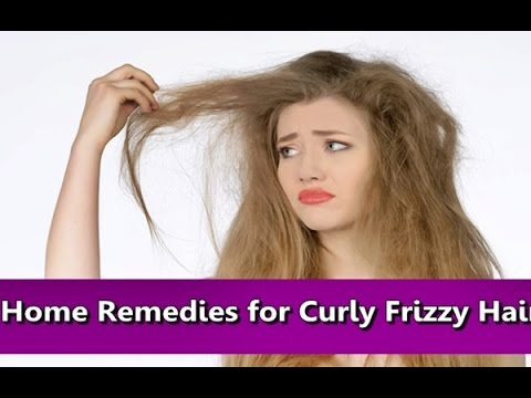 Natural Home Remedies for Curly Dry Frizzy Hair - YouTube