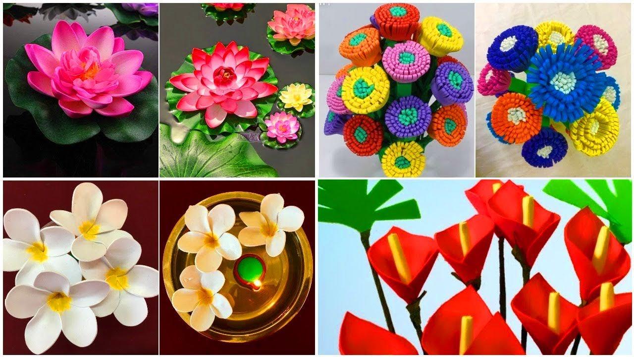 4 Foam Sheet Craft Ideas Diy Foam Sheet Flowers Foam Crafts Step