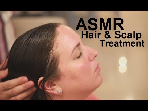ASMR Coconut Oil Hair Treatment | Scalp Massage | Brushing &