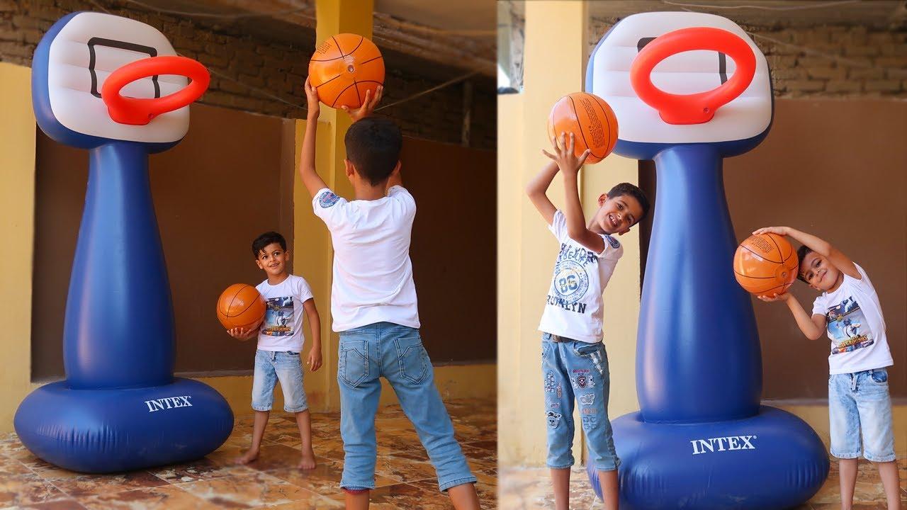 سوينا ملعب كرة سله في بيتنا !!