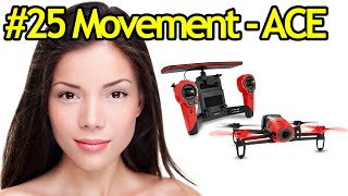 Tutorial #25 Parrot Bebop Drone Movements In ACE Piloting Mode - Quadcopter With Camera