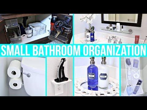 Small Bathroom Organization Ideas!