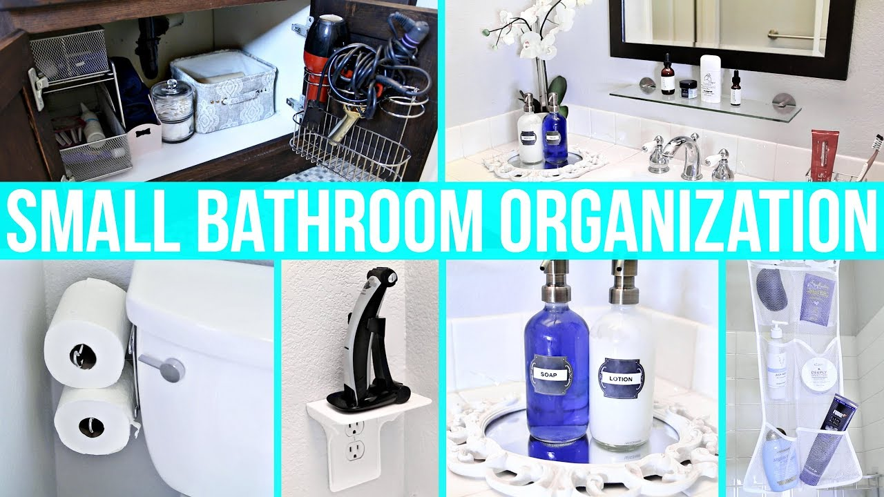 Small Bathroom Organization Ideas! - YouTube