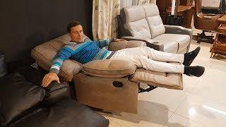 Кресло Прецо с реклайнером и механизмом качания в видео обзоре от Бенцони