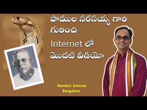 పాములనర్సయ్య గారి గురించి Net లో మొదటి వీడియో - Great incidents from life of Sri. Pamula Narasayya
