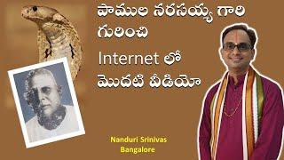 పాములనర్సయ్య గారి గురించి Net లో మొదటి వీడియో - Power of Sri. Pamula Narasayya - Nanduri Srinivas