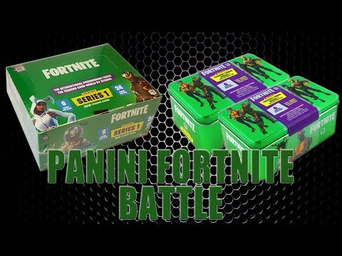 Panini FORTNITE TRADING CARDS SERIE 1 | DISPLAY BOX Vs. COLLECTORS TIN | Unboxing