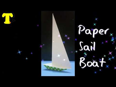 How To Make Sailboat From Paper For Kids   Paper Yacht   #papercrafting