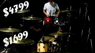 Expensive vs Intermediate Drum Set - Can You Hear the Difference?