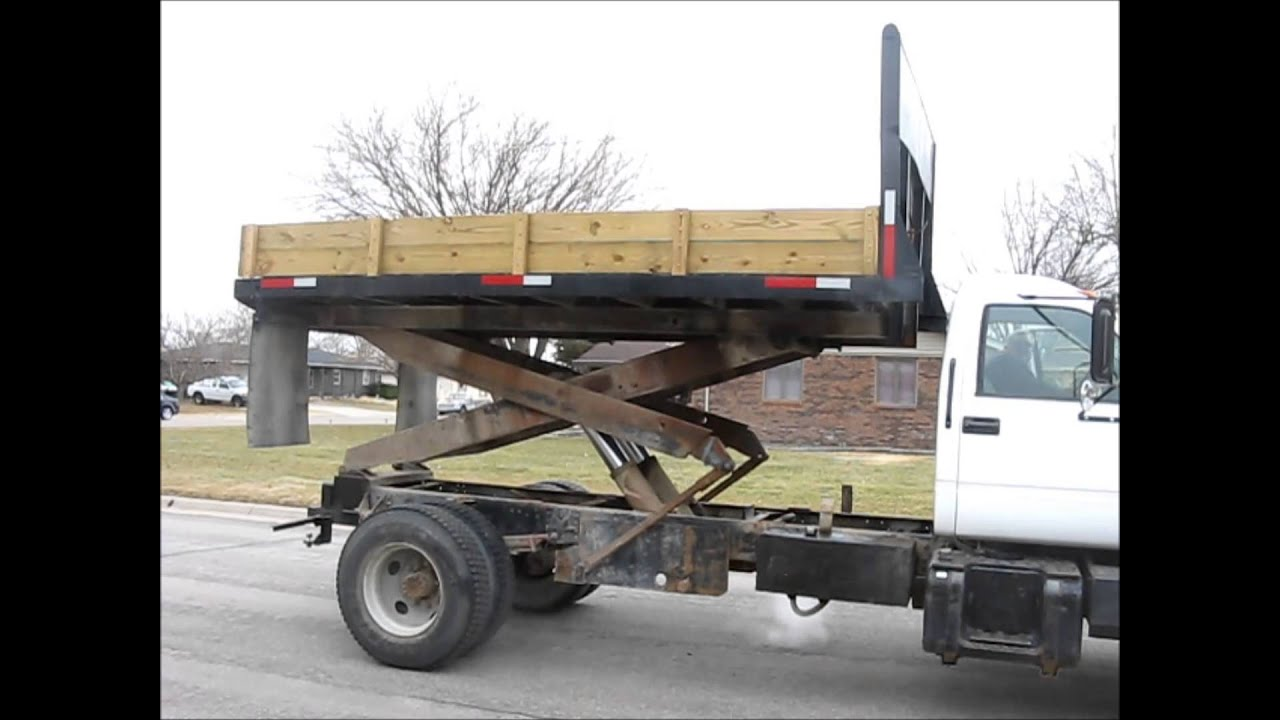 1998 Gmc C6500 Dump Scissor Lift Body Truck For Sale