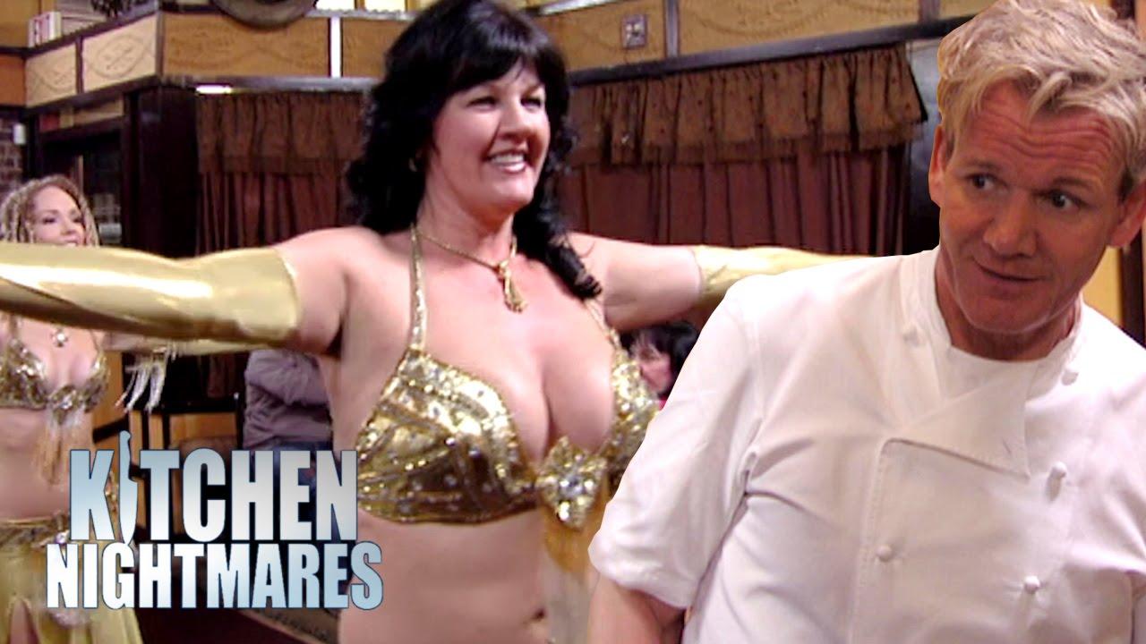 belly dancing owner stuns gordon ramsay - kitchen nightmares - youtube