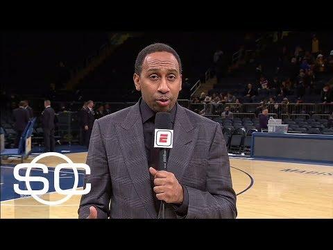 Stephen A. Smith says Lonzo Ball more impressive against Knicks | SportsCenter | ESPN