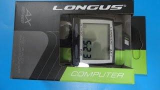 Недорогий велокомп'ютер Longus AX-1, 8-ф