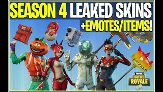 *NEW* Fortnite: SEASON 4 LEAKED SKINS,BACK BLINGS, AND MUCH MORE! | (Free Skins and More!)
