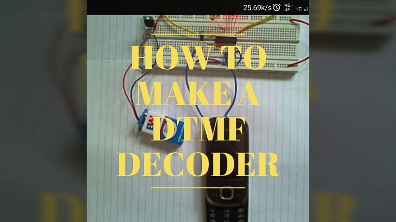 How To Make A Dtmf Decoder Based Load Control System Circuit Diagram