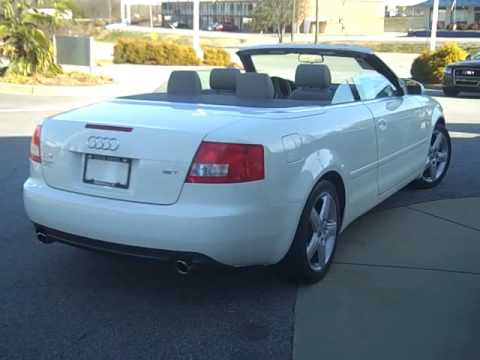 2003 Audi A4 Cabriolet Beautiful Top Down Vehicle Youtube