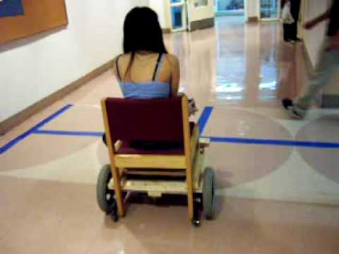 Homemade wooden electric wheelchair youtube for Mobility chair