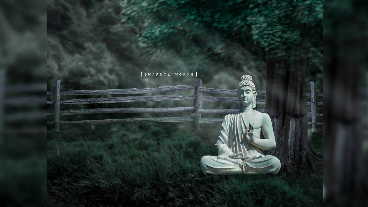 Making Of Lord Buddha Wallpaper Manipulation Peace Youtube