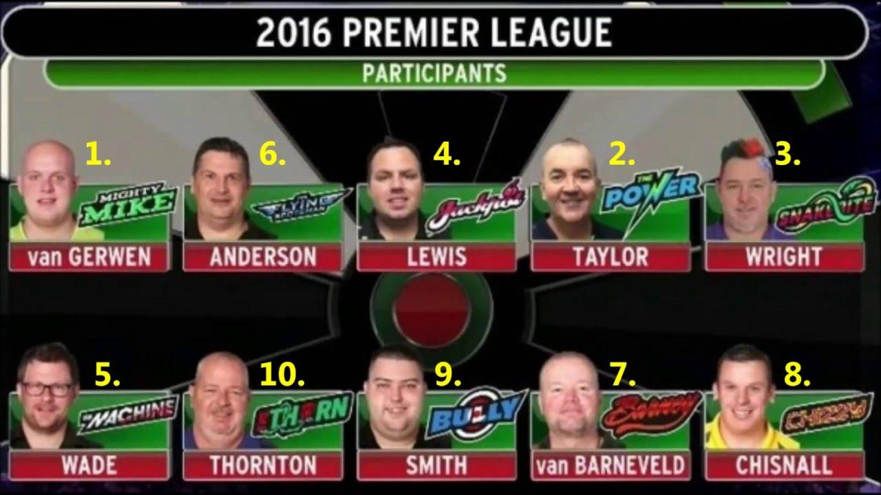 darts premier league tabelle