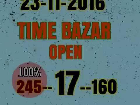 SATTAMATKA TIME BAZAR SINGLE OPEN DHAMAKA 23 NOW 2016
