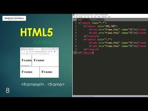 Html Frameset Tag  | Html5 Tutorial - 8
