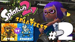 Splatoon 2 - Splatfest PART 2 - Action vs Comedy - Livestream SW-2211-6295-7530