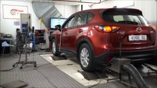 видео чип-тюнинг двигателя автомобиля Мазда 6 2015 года