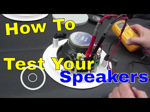 How To Test Your Speaker System