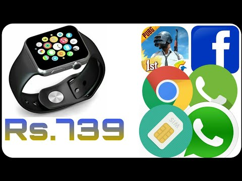 Piquancy A1 smart watch full review sim card supported