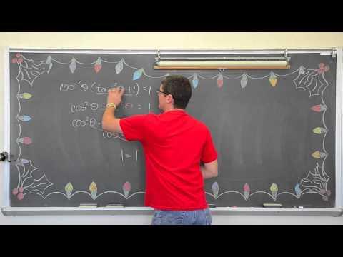 Verifying Trigonometric Identities Pt 1