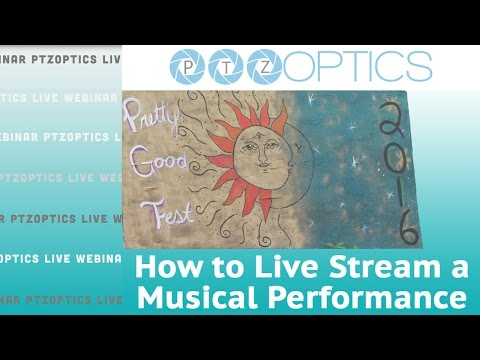 Setting up a #livestream for bands, concerts & musical performances