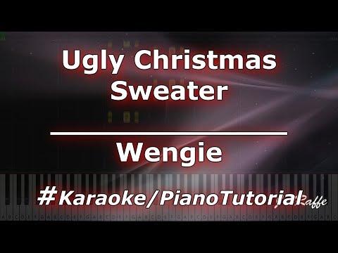 Wengie Ugly Christmas Sweater (KaraokePianoTutorialInstrumental)
