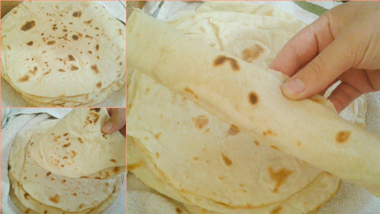 خبز التورتيلا أو الشاورما  لجميع أنواع السندوتش  بمكونات متوفرة سهل وسريع