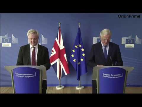 David Davis and Michel Barnier press conference