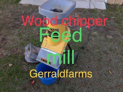 Homemade wood chipper feed mill Gerraldfarms