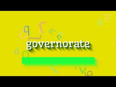 "How to say ""governorate""! (High Quality Voices)"